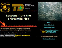 Lessons from the Thirtymile Fire—online training program developed for the USDA Forest Service